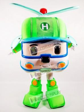 Green Robotic Car Mascot Costume