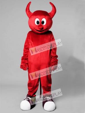 Halloween Red Evil Devil Mascot Costume