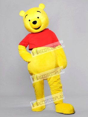 Happy Face Winnie the Pooh Bear Mascot Costume