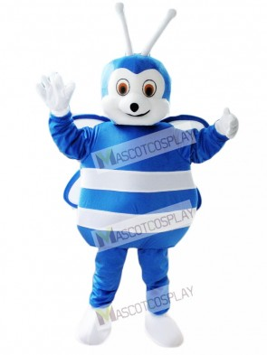 Blue and White Bee Mascot Costume