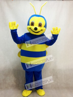 Lovely Blue Bee Mascot Costume