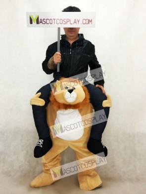 Piggyback Lion Carry Me Ride on Lion Mascot Costume