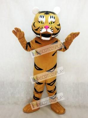 Adult Yellow Orange Tiger Ted Mascot Costume