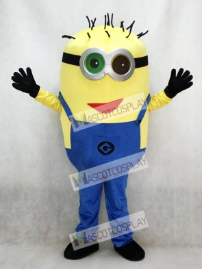 Cute Despicable Me Minions with Red Mouth Mascot Costume Cartoon
