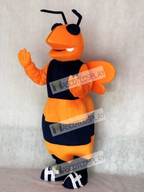 Orange and Navy Blue Adult Hornet Bee Mascot Costume