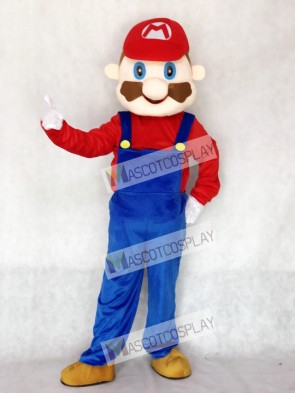 Mario Adult Mascot Costume Cartoon Anime