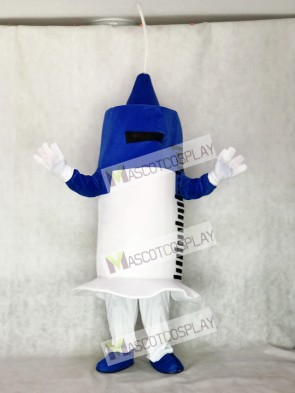 White and Blue Syringe for Hospital Mascot Costume