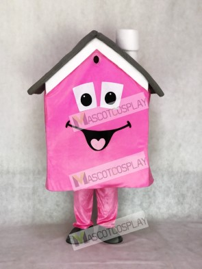 Pink Housing House Real Estate Agent Mascot Costume