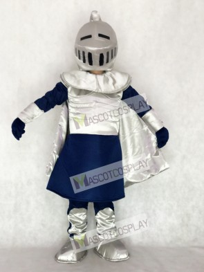 Silver Knight with Helmet Mascot Costume