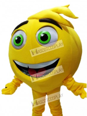 Yellow Mel Meh The Emoji Mascot Costume