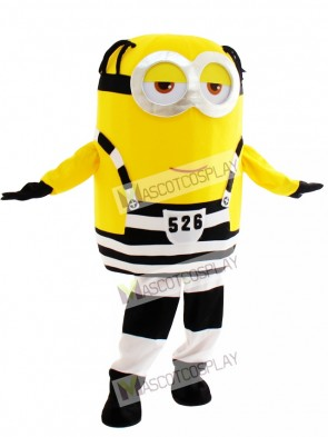 Smiled Minion in Prison Despicable Me Mascot Costume
