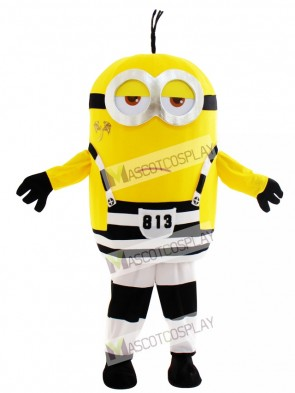 Two Eyes Minion in Prison Despicable Me with Tattoo Mascot Costume Animal