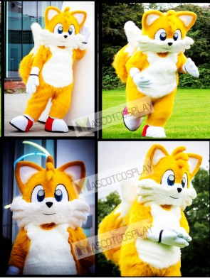 Miles Prower Tails the Fox Mascot Costume Anime