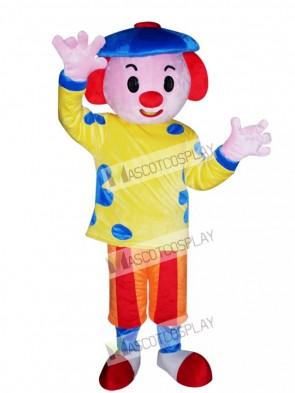 Blue Hat Boy Mascot Costume