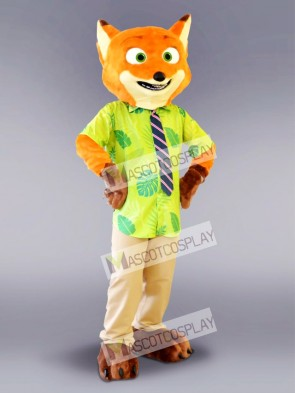 Zootopia Nick Wilde Fox Mascot Costume