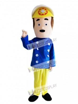 Fireman Sam Mascot Costume