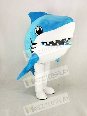 Cute Blue Whale Shark Mascot Costume Cartoon
