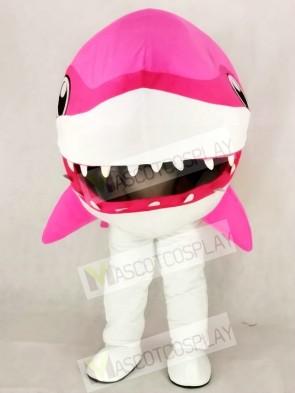 Cute Pink Whale Shark Mascot Costume Cartoon