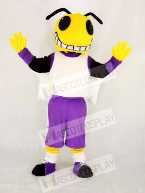 Yellow Hornets in Purple Mascot Costume School