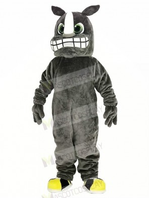 Gray Rhino Mascot Costume Animal