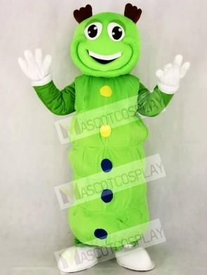 Cute Green Caterpillar Mascot Costume Cartoon