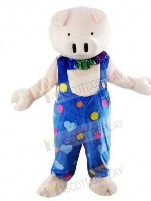 Cute Grey Pig Mascot Costumes Animal