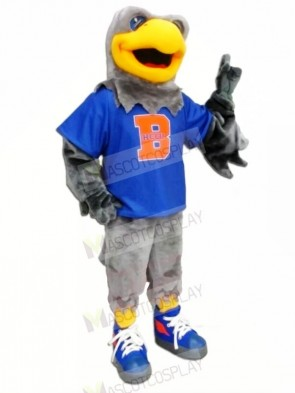 Hawk with Blue T-shirt Mascot Costumes Animal