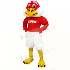 Red and White Freddie Falcon Mascot Costumes School