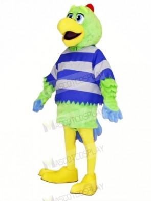 Tall Green Parrot Mascot Costumes Adult