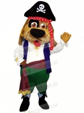 Pirate Brown Dog Mascot Costumes Cartoon