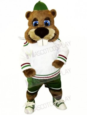 Sport Beaver with Big Nose Mascot Costumes Animal