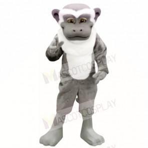 Grey White Monkey Mascot Costumes Adult