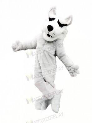 White Husky Mascot Costumes Cartoon