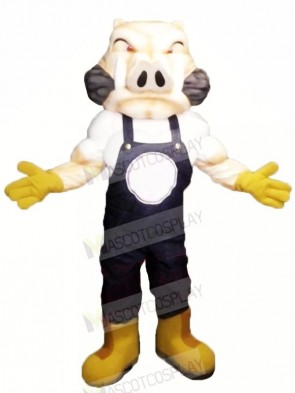 Fierce Hog with Yellow Gloves Mascot Costumes Adult