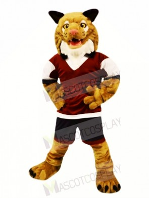 Strong Brown Wildcat Mascot Costumes Animal