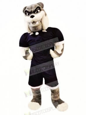 Strong Bulldog with Suit Mascot Costumes Adult