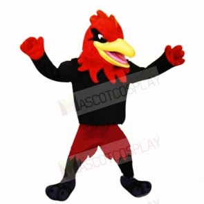 Sport Roadrunner with Black Shirt Mascot Costumes Adult