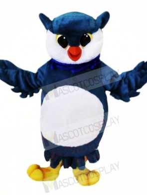 Blue and White Owl Mascot Costumes Animal
