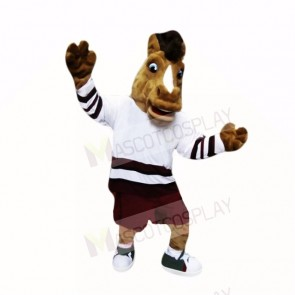 Sport College Horse with White Shirt Mascot Costumes Cartoon