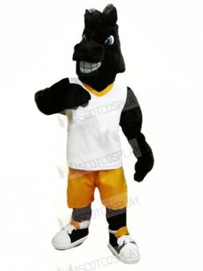 Sport Black Horse Mascot Costumes Cartoon