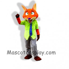 Zootopia Nick Wilde Mascot Costume Zootopia Mascot Cartoon Film Role Clothing