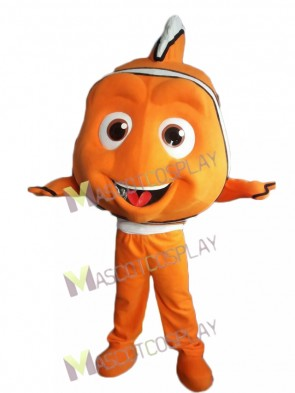 Finding Nemo Orange Clown Fish Mascot Costume Cartoon Character