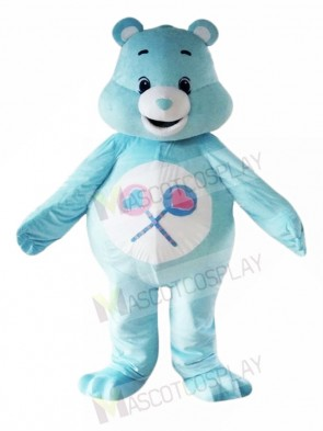 My Lovely Blue Care Bear Mascot Costumes