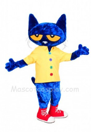 Pete the Cat Mascot Costume Fancy Dress Outfit