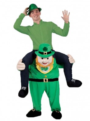 Piggy Back Costume Irish Carry Me Leprechaun Mascot Costume St Patricks Day Christmas Xmas