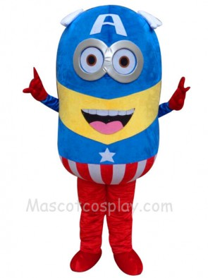 Despicable Me Minions Captain America Mascot Costume Fancy Dress Outfit