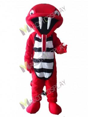 Red Rattle Cobra Snake Mascot Costume