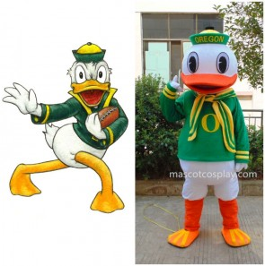 New Oregon Duck College Mascot Costumes Cheerleaders