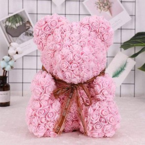 Light Pink Rose Teddy Bear Flower Bear Best Gift for Mother's Day, Valentine's Day, Anniversary, Weddings and Birthday