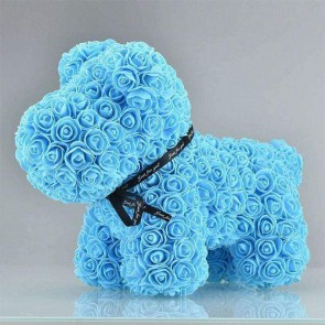 Blue Rose Puppy Dog Flower Puppy Dog Best Gift for Mother's Day, Valentine's Day, Anniversary, Weddings and Birthday